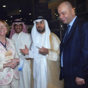Alice welcoming Royalty and press at Dubai Chamber of Commerce Property Investment Expo.